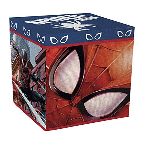 Spiderman–Reposapiés baúl para juguetes plegable el hombre araña Spiderman