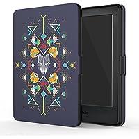 MoKo Funda para Kindle 8th Generación - Funda de SmartShell Más Delgada y Ligera con Auto Sueño/Estela - Tótem del Lobo (No es Compatible con el kinlde Paperwhite)