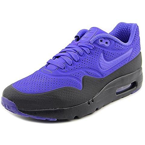 Nike Men's Air Max 1 Ultra Moire Running Shoes, Morado / Black (Persian Violet/Prsn Violet-Blk), 8 UK