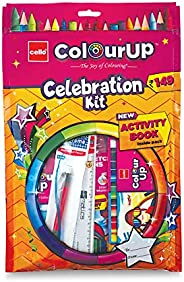 Cello ColourUp Celebration Kit - Gift Pack|Colouring Kit for Kids|Combo Hobby Pack with Colours and Activity B