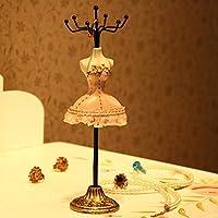 K&C Modello stare gioielli orecchini bracciale collana in tabella del supporto dell'organizzatore o uno scaffale. Collana gioielli spettacolo organizzatore Rosa