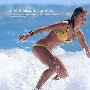 APEMAN Camara Deportiva 4K WiFi 16MP Impermeable Cámara Acción Deporte Acuatica Agua de 30M vídeocámara Deportiva con Control Remoto y 24 Kits de Montaje de Accesorios