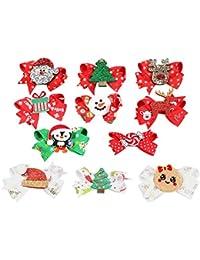 Frcolor - Pinzas para el Pelo de Navidad para niñas y niños (11 Unidades)