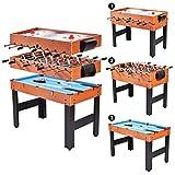 COSTWAY 3 in 1 Multifunktionsspieltisch Multi-Spieltisch Spieltisch Multigame Tischfußball Billiard Tischhockey 123x58x82c