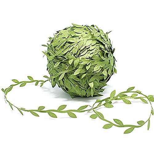 GOTONE 100 Meter Buchsgirlande Künstliche Blätter, Artificial Vines Pflanzen Deko für Weihnachten Vintage Hochzeit Party Dekoration