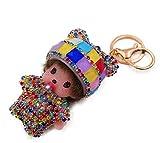 Llavero Para mujer llavero monchhichi kiki bebé (Harlequin) joya bolso de diamantes de imitación