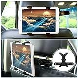GHB Supporto Tablet Auto Supporto Poggiatesta Tablet per Auto Tablet e Ipad Universale da 7 a 10 pollici Rotazione a 360° Design a Ganci per Poggiatesta di Auto Supporto per Sedili Posteriori Nero