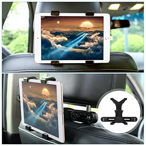 porta tablet auto GHB Supporto Tablet Auto Supporto Poggiatesta per iPad Tablet Auto Universale 7 inches a 10 inches Rotazione di 360° Nero