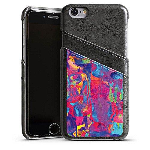 Apple iPhone 6 Housse Étui Silicone Coque Protection Explosion de couleurs Couleurs couleurs Étui en cuir gris