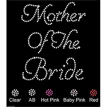 CrystalsRus Mother Of The Groom Wedding Diamante Rhinestone Transfer Iron on Mother Of The Groom transfer