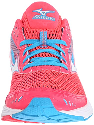 Mizuno Wave Sayonara 3 Synthétique Chaussure de Course Pink-White-Blue