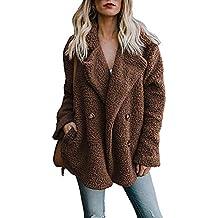 premium selection 5aba6 1f459 Amazon.it: giacca donna pelliccia ecologica - Marrone