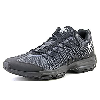 e63462dab852 ... Nike Mens Air Max 95 Ultra JCRD Black Silver-Dark Grey Fabric Size 9.5