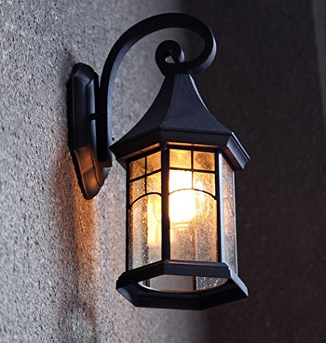 Lampe de mur de jardin européen Lampe de mur de lampe de mur de lampe de mur extérieur antique de mur de lampe, sans ampoule