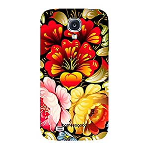HomeSoGood Amazing Floral Painting Black 3D Mobile Case For Samsung S4 ( Back Cover)