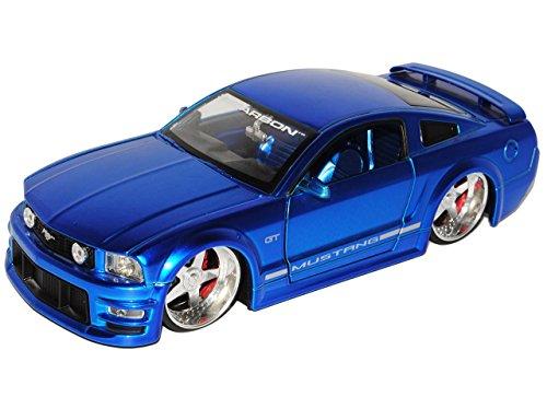 Sonderposten Ford Mustang V 1. Generation Shelby GT-500KR Blau 2004-2009 1/24 Jada Modell Auto