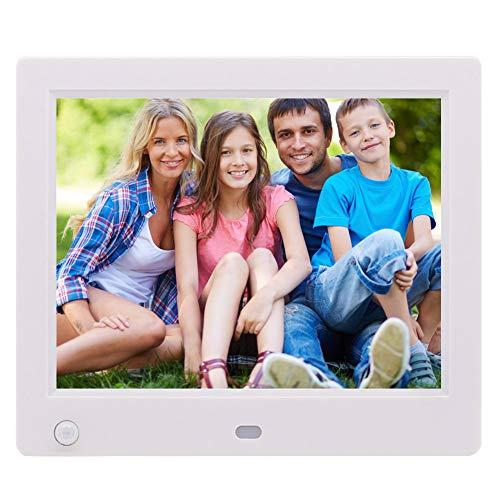 Digitaler Bilderrahmen 20,3 cm (8 Zoll) elektronischer HD-Speicher digitaler intelligenter Foto-Video-Bilderrahmen für Weihnachten, weiß (Digitale Foto-speicher)