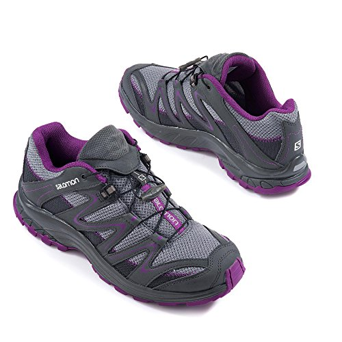Salomon Trail Score Outdoorschuh Grau/Lila