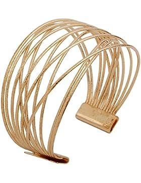 YAZILIND Fashinable Frauen-Band-breite Stulpe-Armband-Retro- Metallschmucksachen