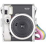 Funda Transparente para Fujifilm Instax Mini 90 Neo Classic con Bondolera, Funda de cámara para Fuji Fujifilm Instax Mini 90 Neo Classic