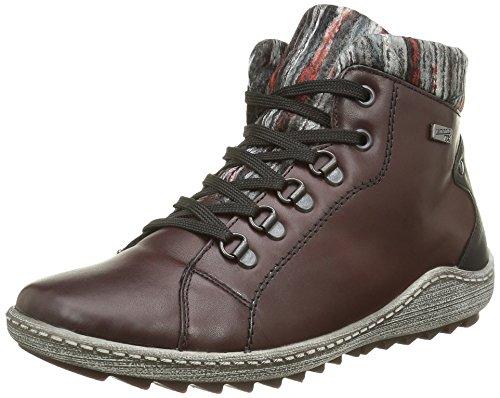 Remonte R1473, Sneakers Hautes Femme, Rouge (Wine/Schwarz/Grau-Rot / 35), 37 EU