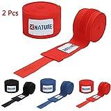Xnature MMA Bandes Intérieur Mains Intérieur Gants Mitaine Boxe Arts Martiaux 4,5 Mètres Bandage Poignet Entrainement Muay Thai Rouge