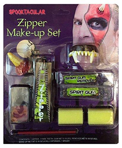 HALLOWEEN MAKE-UP MAKE-UP GESICHTSFARBE ZOMBIE VAMPIR HEXE CLOWN DEVIL FAMILIEN SET ROT WEIß SCHWARZ - Teufel Reißverschluss Make-up Set