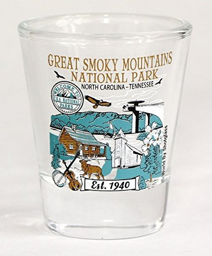 Great Smoky Mountains North Carolina Tennessee National Park Series Collection Shot Glas -