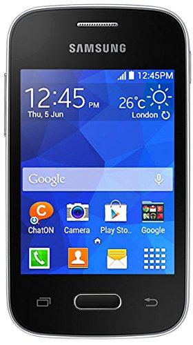 Samsung SM-G110HZKADBT Galaxy Pocket 2 Smartphone (8,28 cm (3,26 Zoll) Touchscreen, Single Core Prozessor, 1GHz, 2 Megapixel Kamera, 4GB interne Speicher, SD-Kartenslot) schwarz -