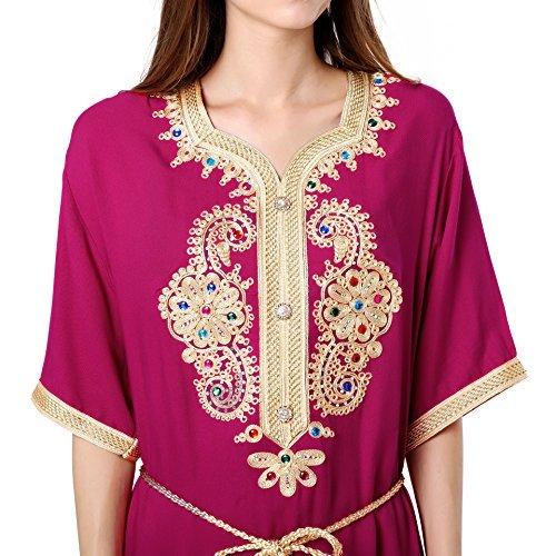Muslim Abaya Dubai Kleid für Frauen islamischen Kleid Islamische Kleidung muslimische Kaftan / Caftan Rayon Gewand Jalabiya 1606 Roseo