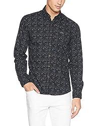 Wrangler Mens Casual Shirt (8907649201169_W2663710421R_M_Black)