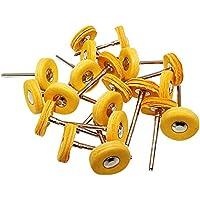 Niupika - Rueda de pulido de 3 mm para taladro rotatorio Dremel, 20 unidades, color amarillo