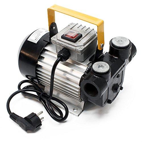 WilTec Selbstansaugende Bio Dieselpumpe für 20-60 L/min Heizölpumpe mit 230 V 550 W
