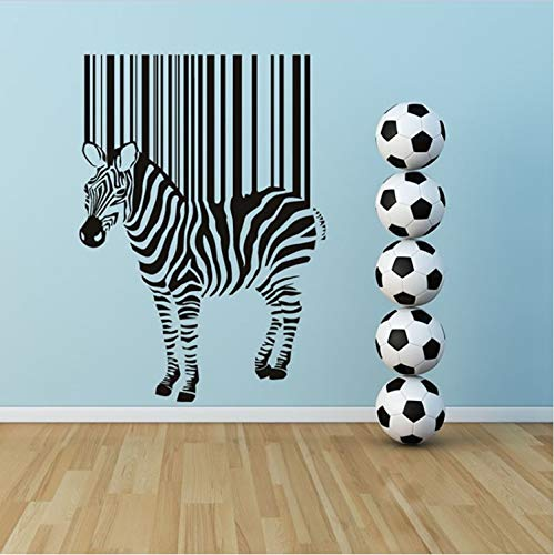 KUANGJING Kunst Aufkleber Forlarge Größe Selbstklebende DIY Abnehmbare Schwarze Zebra Barcode Wandaufkleber Kinderzimmer Dekoration 41X59 cm