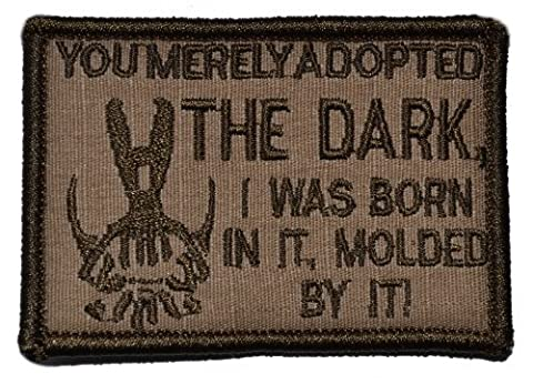 Bane Speech You Merely Adopted the Dark Dark Knight 2x3 Military Patch / Morale Patch - Multiple Colors (Coyote Brown) by Tactical Gear Junkie