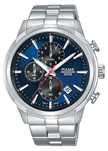 Pulsar Reloj Cronógrafo para Hombre de Cuarzo con Correa en Acero Inoxidable PM3115X1