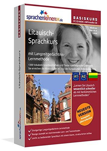 Preisvergleich Produktbild Sprachenlernen24.de Litauisch-Basis-Sprachkurs: PC CD-ROM für Windows/Linux/Mac OS X + MP3-Audio-CD für MP3-Player. Litauisch lernen für Anfänger