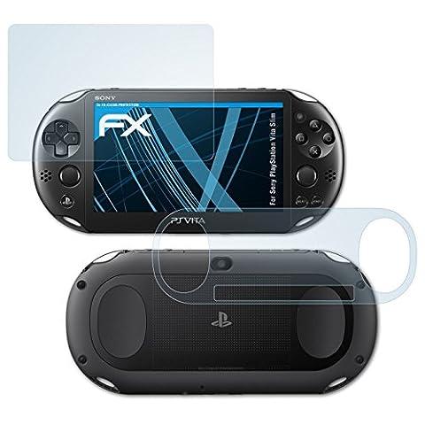 Sony PlayStation Vita Slim Schutzfolie - 3er Set atFoliX FX-Clear kristallklare Folie Displayschutzfolie