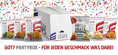 Neu GOT7 High Protein Chips Snack 40{4afbcb28be7d12c047b28f59f474b536fb659dc73f8295b9e6fab12d7adf8604} Protein Fitnesssnack - Ideal Zur Diät Fitness Bodybuilding 6x 50g (Partybox)