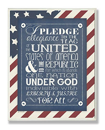 la-chambre-enfants-par-stupell-pledge-of-allegiance-avec-fond-drapeau-americain-rectangle-plaque-mur