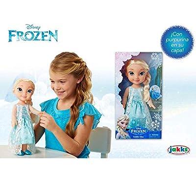Glop Games,S.L.U. Muñeca Frozen Elsa 35 cm Articulada con Capa de Copos de Nieve Purpurina por Glop Games,S.L.U.