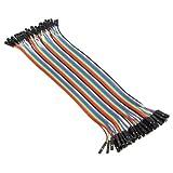 40 Câbles pour BreadBoard Femelle / Femele - Arduino Femalle Fils jumper Wire Dupont line cable