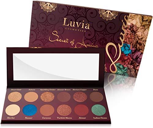 Luvia Lidschatten-Palette - Secret of Amira Make-Up - Inkl. 12 traumhaften Farben des Orients -...