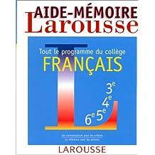 Aide-mémoire français, tout le programme du collège