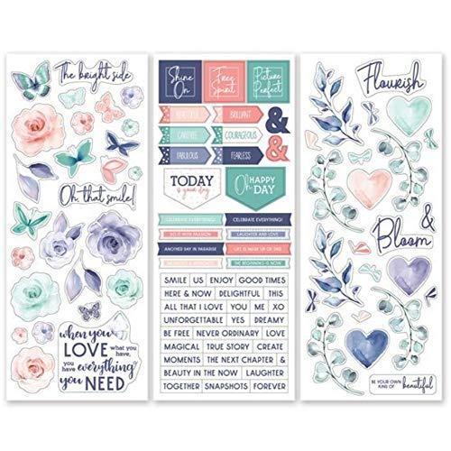 Creative Memories Flourish Aufkleber für Hochzeits- und Blumendesign, 3 Stück -