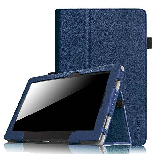 Fintie Folio Hülle Case für Asus Transformer Pad TF103C 10.1 Zoll Tablet Premium Kunstleder Schutzhülle Cover Tasche mit Ständerfunktion, Marineblau