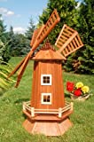 Deko-Shop-Hannusch Moulin à vent en bois imperméabilisé avec roulement à billes Grand modèle