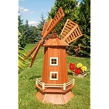 Windmühle, Garten Windmühle, Holz Windmühlen, imprägniert, Kugelgelagert, 1.15 m