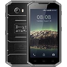 Kenxinda W8 4G LTE Smartphone IP68 Underwater Dustproof Shockproof 5.5 Inch HD IPS Screen 16GB/2GB Android 5.1 Camera 8.0MP Military Grade Mobile Phone Waterproof Rugged Cell Phone(Grey)