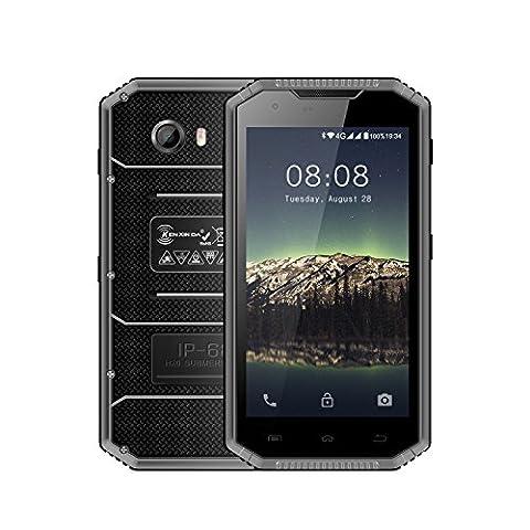 【Robustes Handy】 Kenxinda W7, Android 6.0 Tough Dual SIM Unlocked Smartphone 2800 mAh Batterie 8MP + 5MP Kamera Durable, 5.0 Zoll 16GB ROM + 1GB RAM IP68 Wasserdicht / Shockproof / Staubdicht MT6735 Quad-Core 1.5GHz Dual Standby Outdoor Telefon (Unlocked Gsm-bluetooth-kamera-telefon)